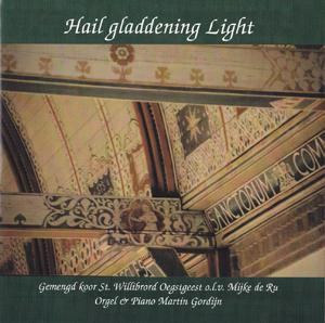Hoes van cd die het Gemengd koor St. Willibrord opnam in eigen kerk in Oegstgeest (februari 2002). Ter ere van 25-jarig jubileum. (Foto: Maarten Kloek.)